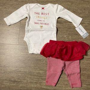 Carter's Baby 2 Piece Holiday Bodysuit Tutu/Pants